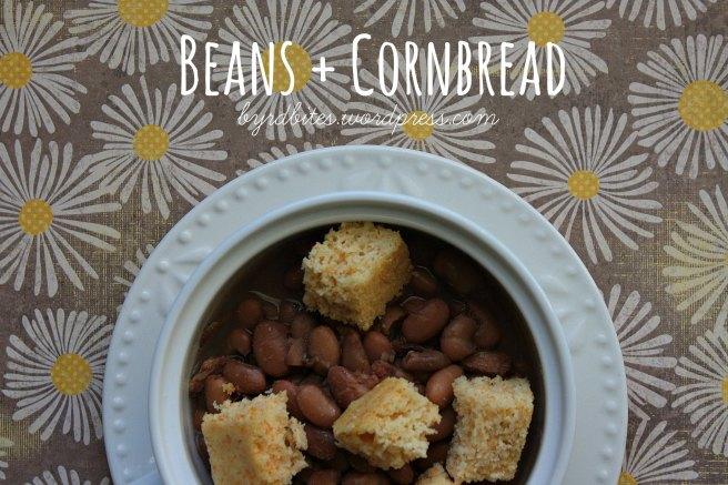Beans + Cornbread via Byrd Bites