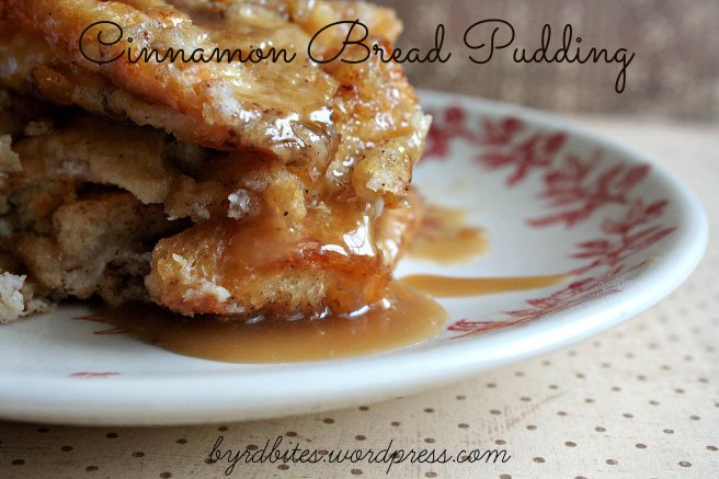 Cinnamon Bread Pudding via Byrd Bites