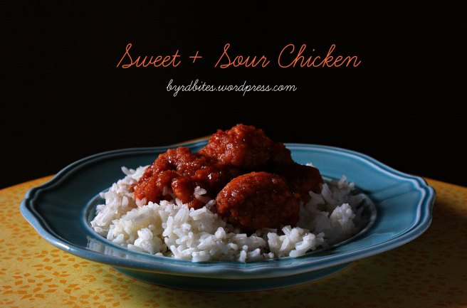 Sweet + Sour Chicken via Byrd Bites